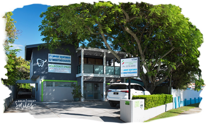 About Us - Front entrance of the Gold Coast Smiles Clinic at Burleigh Heads