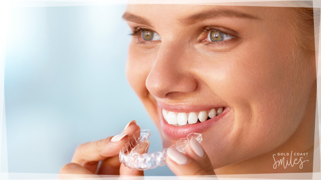 Patient on an Invisalign treatment plan